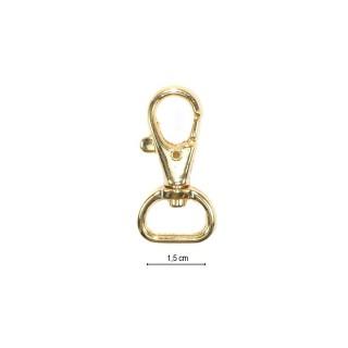 Mosqueton metal oro 15mm.