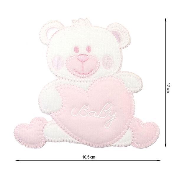 Tijera punta curva dibujo rosa