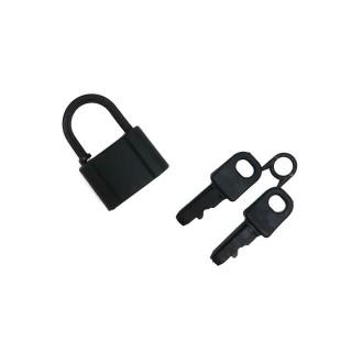Cierre candado+llaves negro