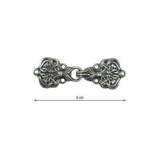 Broche metal alamar pavonado
