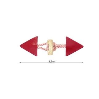 Broche trenka cordon rojo
