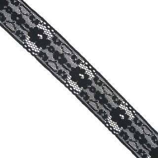 Entredos puntilla nylon negro