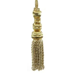 Borla metal oro 12 cm.