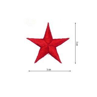 Parche estrella 3cm. rojo