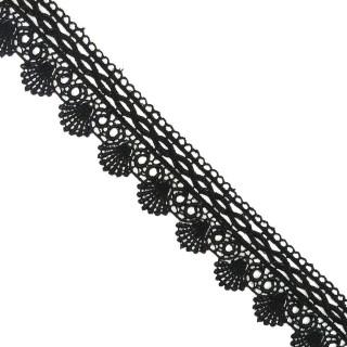 Puntilla guipur negro