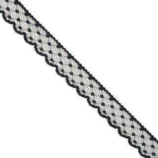 Puntilla nylon 4bodoque negro