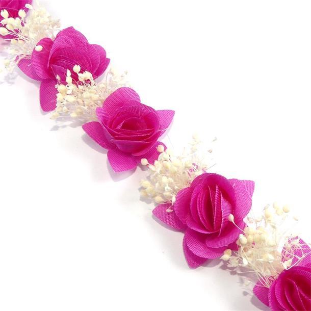 Tira flores fuxia+f.seca