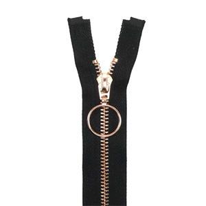 Cremallera met.18cm.cobre anil