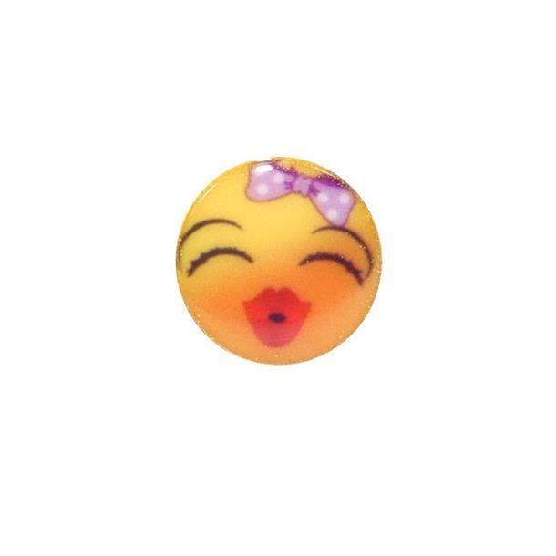 Boton emoticono t/p chica rubo