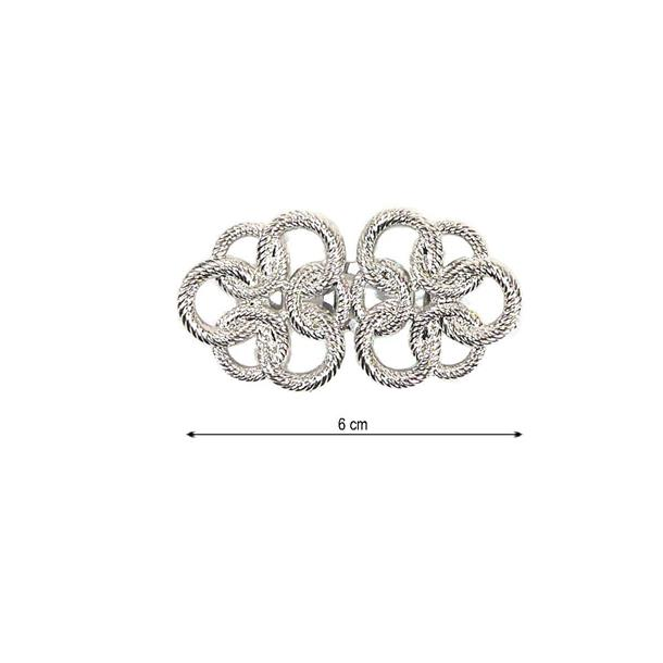 Broche nudos 15mm.plata