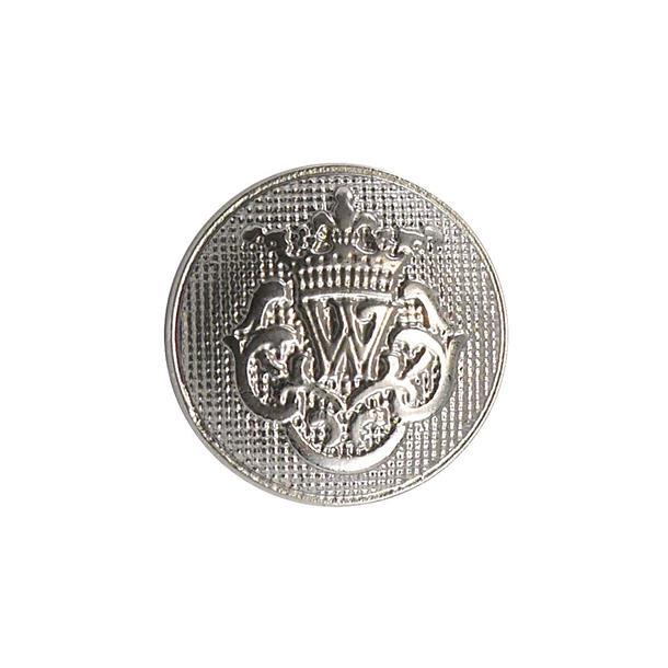 Boton escudo w t/24 plata