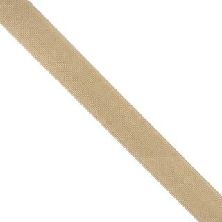 Goma elastica 25mm.beig