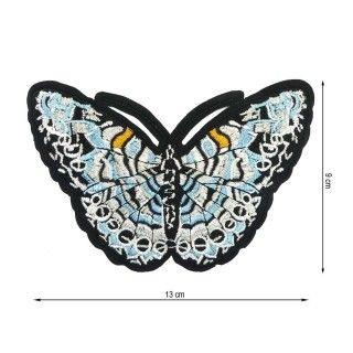 Parche termo mariposa celeste
