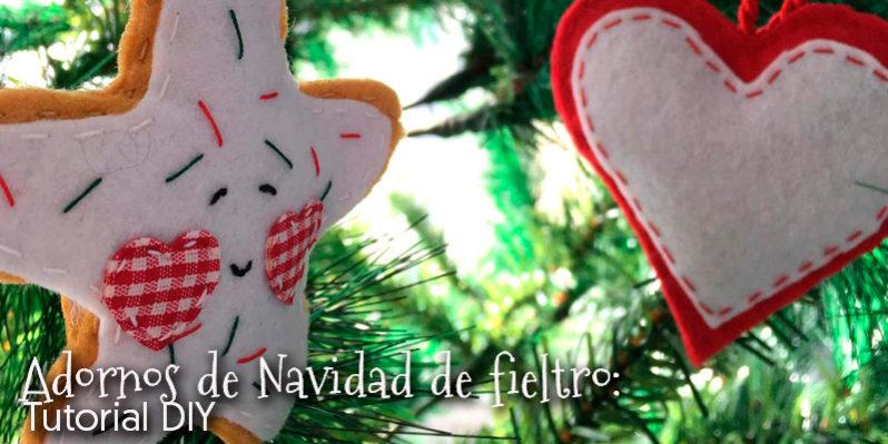 Adornos de Navidad de fieltro Tutorial DIY Blog Botton
